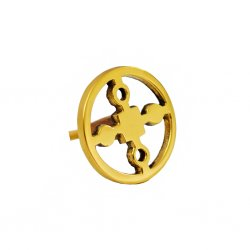 "HILKECOLLECTION - Knob, in brass ""Anima Gemella"""